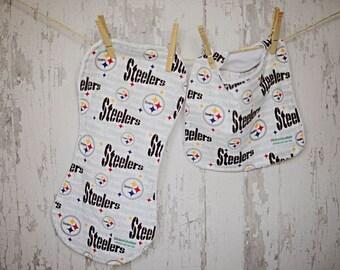 PITTSBURGH STEELERS Bib set/Baby Bib and Burpie Set/ Shower Gift/ Pittsburgh Steelers/  Baby Boy Look/ Sports/Chic/Trendy Mom/Dad/Football