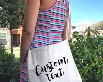 Small 12 oz. Messenger tote bag with long Straps / Canvas tote bag / Custom canvas tote bag / Tote bag with long straps / Messenger bag