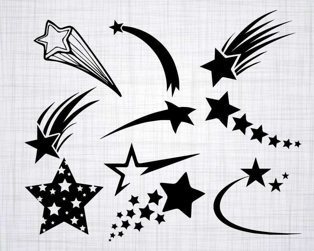 Shooting star vectors 1916 free vectors