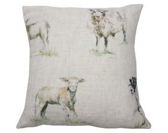 Sheep Countryside Animal Print Cushion Cover