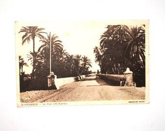 Marrakesh-El Kantara bridge - Africa of the North-story life garrison-old postcard - 1949 orientalist photography