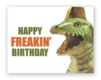 Dinosaur Freakin' Birthday Card