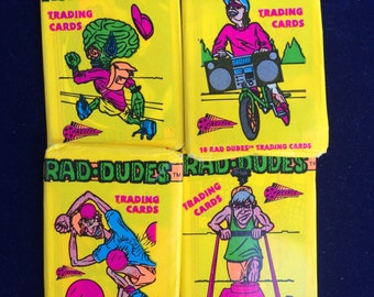 1990 Rad-Dudes trading cards