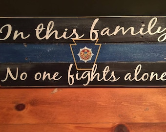 Pennsylvania State Police Hand-made Wooden Sign