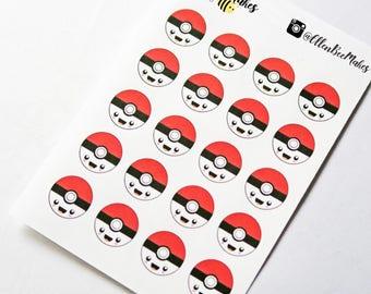 Kawaii Poke Ball Stickers