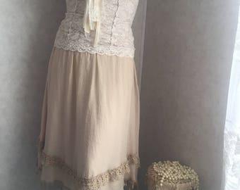 Shabby chic clothing, shabby chic skirt, womens clothing, mori girl clothing, shabby chic skirt