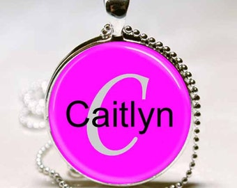 Caitlyn Name Monogram Handcrafted  Necklace Pendant (NPD0624)