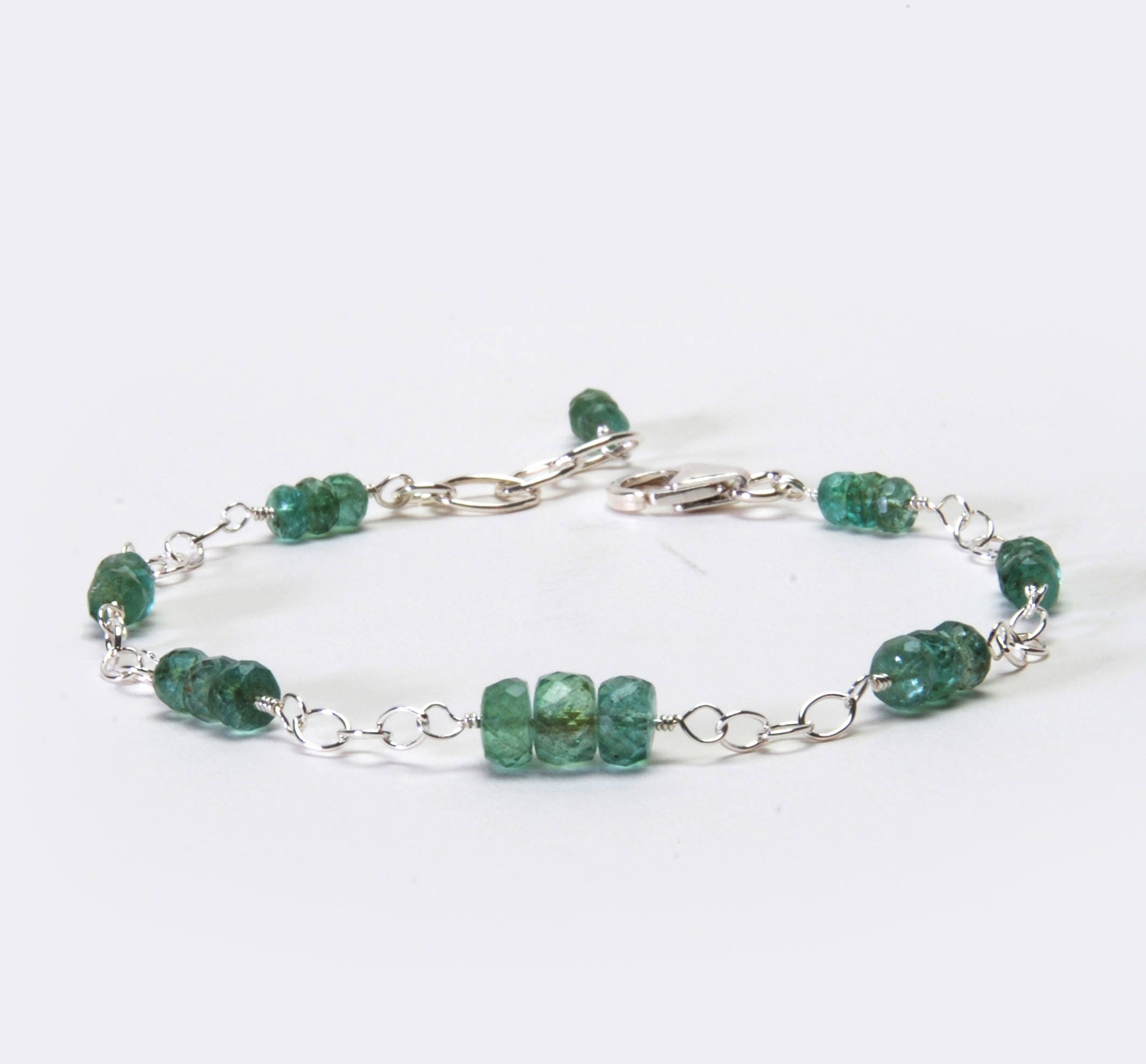 gold bracelet row three cz tennis emerald and eternity diamond silver plated