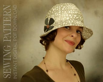 SEWING PATTERN - Eleanor, 1920s 1930s Twenties Cloche Hat for Child or Adult Summer Autumn Cancer