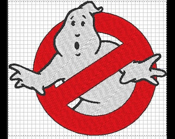 GhostBuster embroidery design