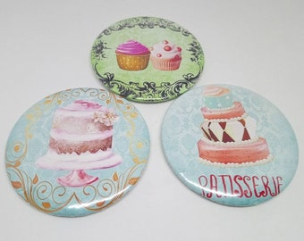 Set of 3 magnets 56mm pin