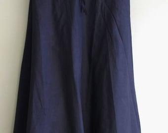Black indian cotton skirt with Drawstring waist