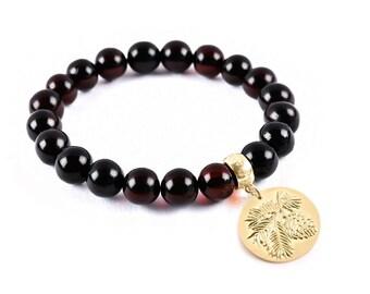 Amber bracelet, mens bracelet, mens gifts, bracelet for men, bracelets for women, mens beaded bracelet, friendship bracelets, boho jewelry