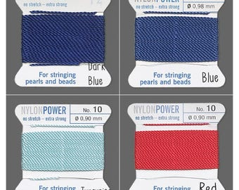 NylonPower thread griffin, Griffin NylonPower thread for stringing pearls and beads, griffin Nylon thread #0 to #16, griffin 100% Nylon.