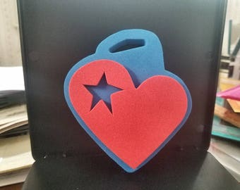 """Anita's Chunky Stamps """"Heart With Star"""", Chunky Foam Stamps"""