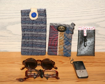 cell phone cases - blue fabric