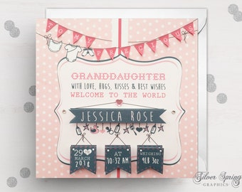 Granddaughter Birth Card