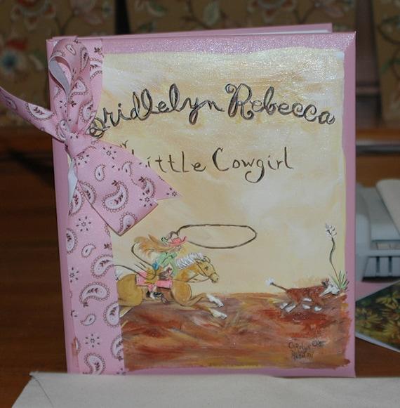 Keepsake Book | Little Cowgirl Calf Roper Baby Memory Book