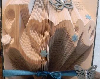 Love Folded Book Art