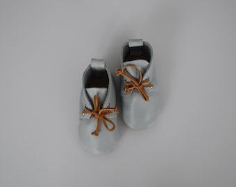 SALE - desert boots / baby moccasin moccs / soft soled baby shoes / breeze