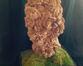 ROSE DES SABLES big size rare pedestal 88 cm gemstone mineral
