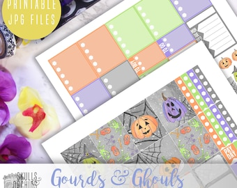 Gourds & Ghouls Weekly Kit - Printable Stickers for Erin Condren