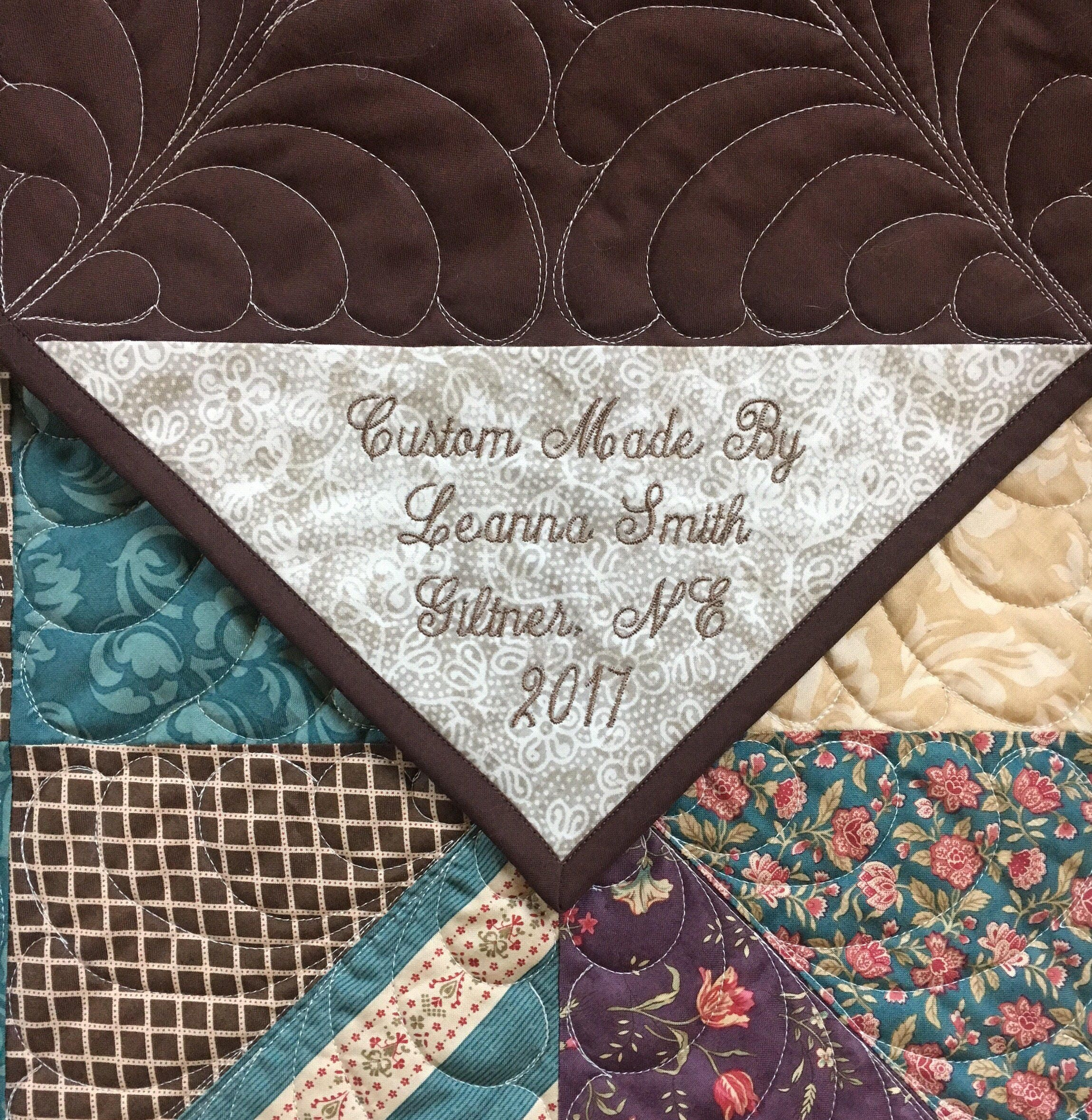 Custom Quilt Labels Personalized Embroidered Corner Quilt Labels ...