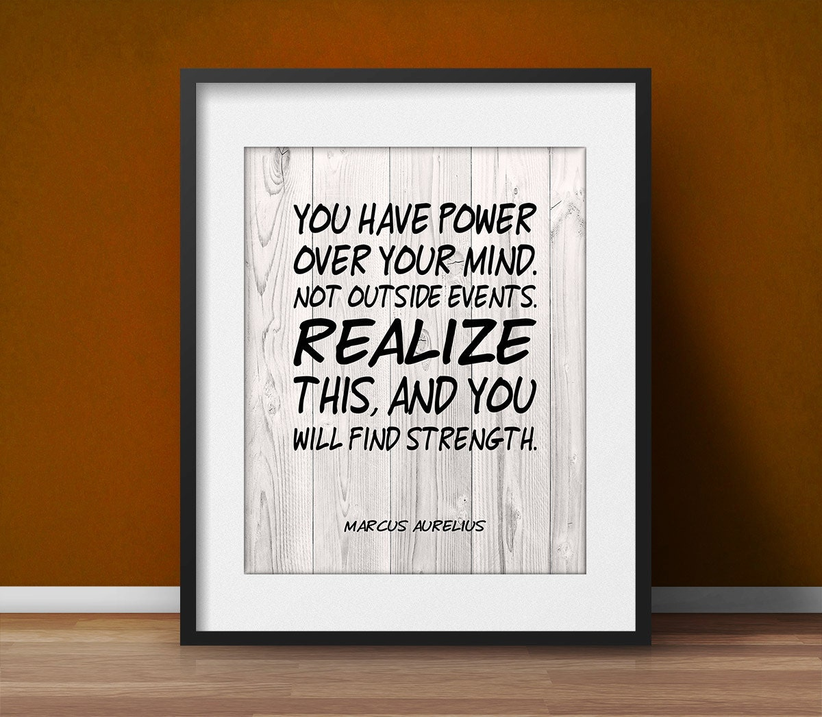 Life Quote Poster Marcus Aurelius Quote Motivational Poster Mind Office Decor