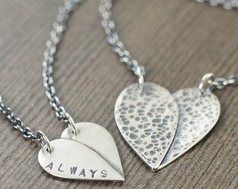 Memorial jewelry Always in my Heart memorial necklace heart necklace gifts for her