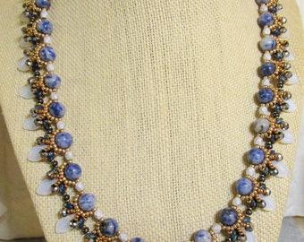 Sodalite Sparkle Necklace TGW 87.0ct