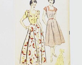 50s Dress Pattern | Advance 6167 Misses House Coat & Housedress Pattern | 50s Sewing Pattern
