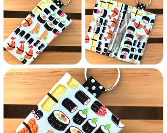 ID Wallet with Key Chain / Credit Card Holder / Mini Wallet / Business Card Holder / Gift Card Holder