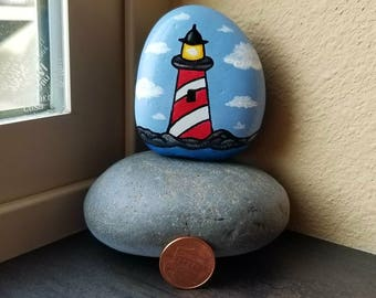 Lighthouse (Rock Painting)
