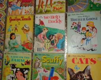 Retro Little Golden Books Collection Lot of 9 Children's Books