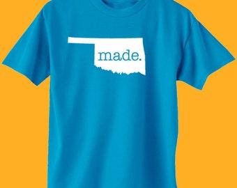 Oklahoma Made T-Shirt - Mens & Womens(Juniors) Tee Shirts Size S M L XL