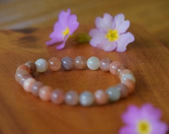 Moonstone-Women stone-gift for you-empathy-menopause-soothes menstruation-moon addiction-bracelet-Bracelet