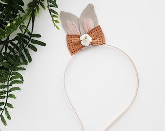 Bunny Ears Headband, Easter Bunny Ears Headband, Girls Bunny Ear Headband, Baby Bunny Ear Headband by charliecocos