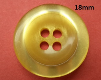 11 Buttons Yellow 18 mm (1008)