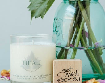 Heal Candle, Gift For Friend Having Surgery, Get Well Gift For Her, Condolence Gift, Best Wishes Gift, Thinking Of You Gift