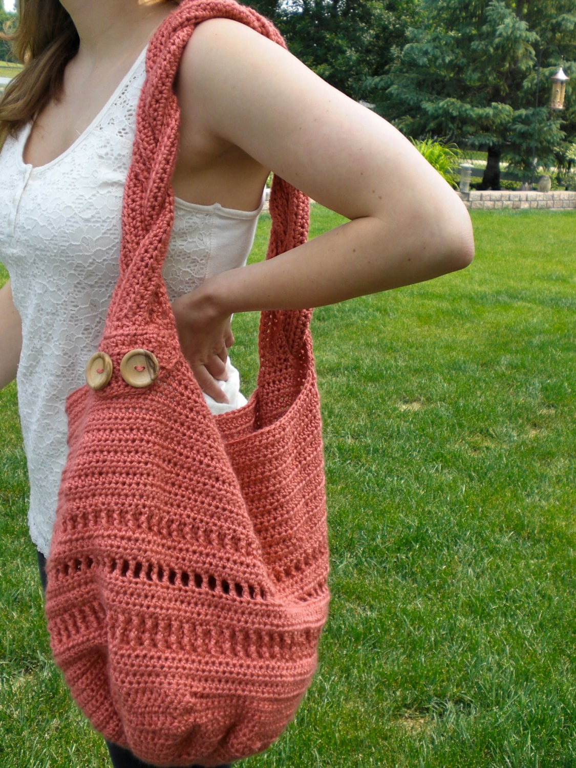 Crochet Bag Pattern - Summer Meadow Tote Bag with Braided Strap ...
