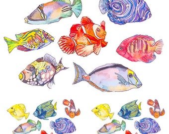 Cooler Fish ~ 369868 ~ Glass Decal - Ceramic Decal - Fusible Glass Decals - Waterslide Transfer