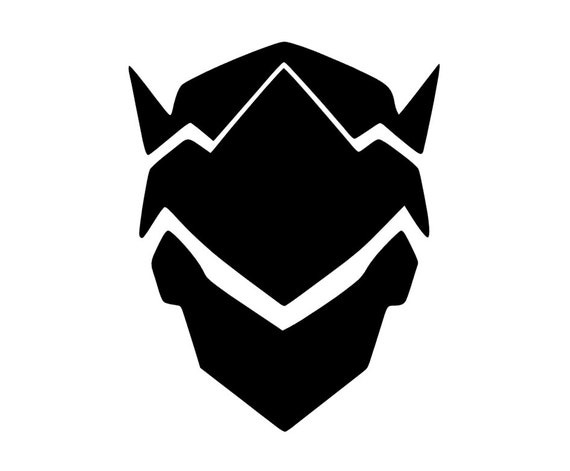 Items similar to genji overwatch vinyl decal sticker black or white on etsy
