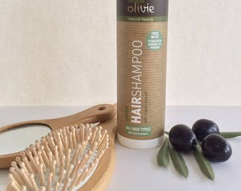 Hair Shampoo for All Hair Types, with Organic Olive Oil and Laurel Extract, Hair Care, Olive Oil Cosmetics, Natural Cosmetics