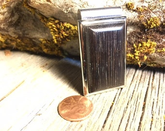Wooden Money clip: Torrefied Oak ( charred Oak)