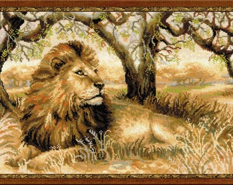 RIOLIS Counted Cross Stitch Kit King of the Beasts (Lion) R1261