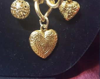 Goldtone Necklace with hearts