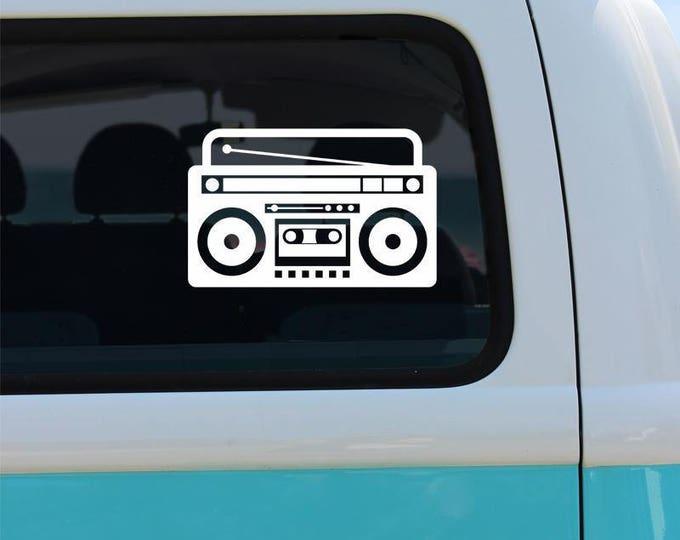 Stereo Vinyl Window Decal - Car Sticker - Car Decal - Boombox - Stereo Decal - Stereo Car Sticker - Boombox Decal - Window Sticker