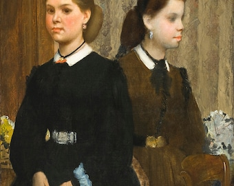 Edgar Degas: The Bellelli Sisters. Fine Art Print/Poster. (003763)