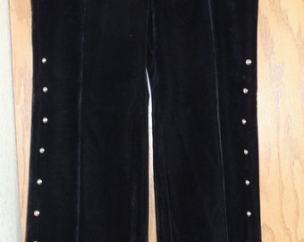1960s Hip Hugger Bell Bottom Pants with Studs 15/16 Old Store Stock