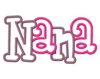 Nana Embroidery Machine Applique Design 10593